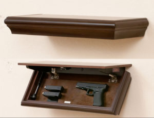 storage shelf with gun compartment